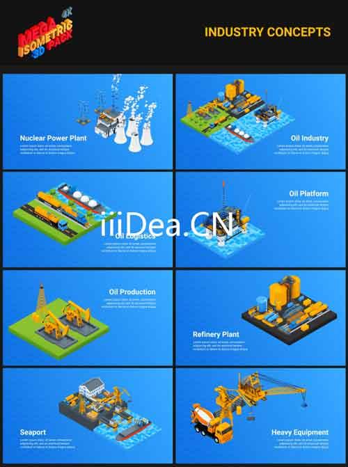 27019075 04 - AE模板 - 300+现代三维元素体育/建筑/运输工具/地球/礼物动画运动图形超级包