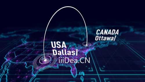 27809779 003 - AE模板 - 三维世界地图绑定连线文字标注动画项目