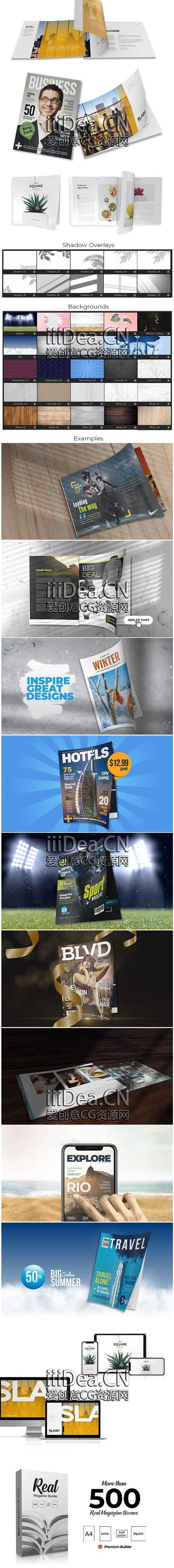 29703858 - AE扩展 - Element 3D(E3D)杂志图文书籍宣传册动画生成器动画插件