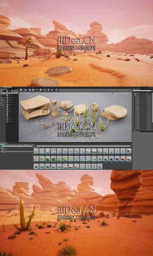 Stylized Desert Environment 01 - 虚幻UE引擎程式化沙漠环境3D模型Stylized Desert Environment 4.2.6