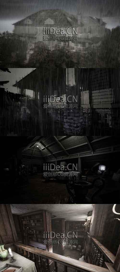 unrealengine marketplace classic mansion - 500+虚幻UE引擎室内外恐怖游戏环境开发项目3D模型集